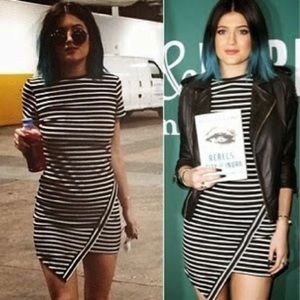 Dresses & Skirts - Kylie Black and White Striped Dress
